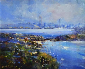 Perth City, on the Swan River and the Canning River, Perth WA By Henry Mclaughlin ,2003