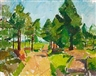 Karl Oscar Isakson, Forest scene, Småland, Sweden