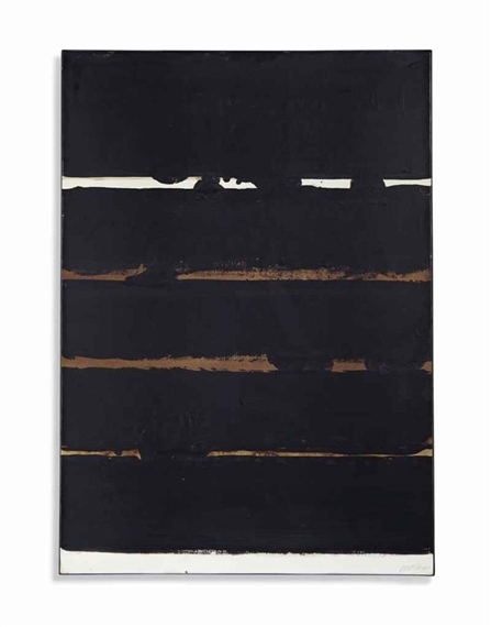 pierre soulages brou de noix 109 x 74 cm 1977. Black Bedroom Furniture Sets. Home Design Ideas