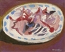 Max Gubler, Plate with remains of fish