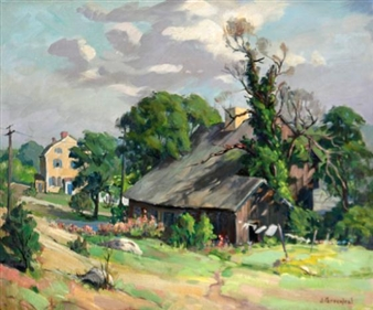 Country Lane By Jacob I. Greenleaf