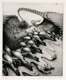 Artwork by Inka Essenhigh, War, Made of Etching and drypoint