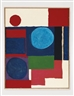 Patrick Heron, BLUE IN BLUE WITH RED AND WHITE