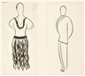 Josef Capek, 2 Works : Helena - design of a costume for the play R.U.R ; Fabry - design of a costume for the play R.U.R