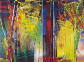 Artwork by Gerhard Richter, 2 works: Victoria I; and II, Made of offset lithographs in colours, on smooth wove paper