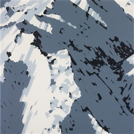 Artwork by Gerhard Richter, Schweizer Alpen I: A2, Made of Screenprint in black and two shades of grey