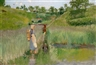 """Theodor von Hörmann, A Summer's Day near Samois, """"La brouillard sur la Seine"""""""