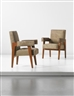 "Pierre Jeanneret, Le Corbusier, Pair of ""Advocate and Press"" armchairs, model no. LC/PJ-SI-41-A, designed for the High Court, Chandigarh"