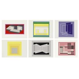 Artwork by Josef Albers, 127 Works: Formulation Articulation Portfolio I And Ⅱ, Made of Color silkscreen