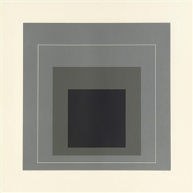 Artwork by Josef Albers, White Line Square Ⅸ, Made of Lithograph