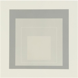 Artwork by Josef Albers, White Line Square ⅩIV, Made of Lithograph
