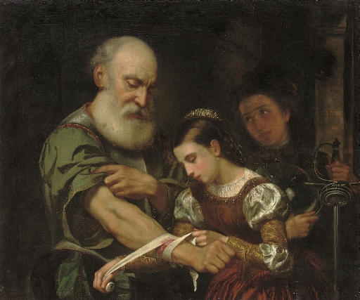 old man with a young girl