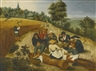 Pieter Brueghel the Younger, SUMMER: FIGURES EATING DURING THE SUMMER HARVEST
