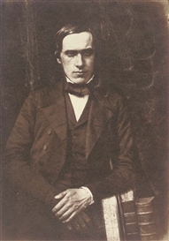 Artwork by David Octavius Hill, Reverend McEwen, Made of salt print from calotype negative