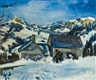 Walter Jacob, Winter landscape in Switzerland