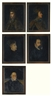 Pieter Claesz, 5 works:  PORTRAIT OF KING FREDERICK III;  PORTRAIT OF KING ALBERT I OF HABSBURG ;PORTRAIT OF FREDERICK I BARBAROSSA;PORTRAIT OF KING MAXIMILIAN II OF BOHEMIA AND GERMANY ; PORTRAIT OF ARCHBISHOP GEORG FRIEDRICH OF GREIFFENCLAU