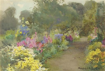A garden path, probably Kilmurry By Mildred Anne Butler