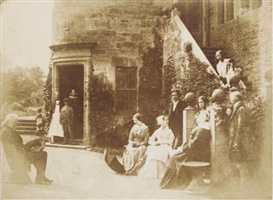 Artwork by David Octavius Hill, Group at Bonaly Towers, the home of Lord Cockburn