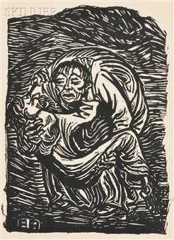 Barmherzinger Samariter (The Good Samaritan) By Ernst Barlach ,1919