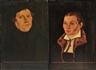Lucas Cranach the Elder, 2 works: Portraits: Martin Luther and Katharina von Bora