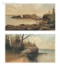 George M. Hathaway, 2 works:  Portland, Maine, Views: Diamond Cove, Diamond Island