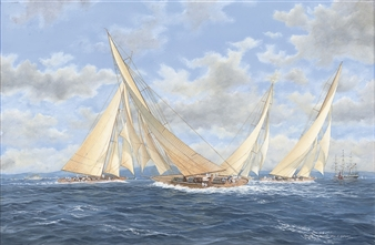 J-class regatta, 1932 By John J. Holmes ,1932