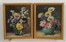 Mae Bennett Brown, 2 works:  FLORAL STILL LIFES