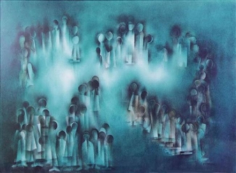 Abstract Procession By Norman Lewis