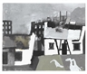 Keith Vaughan, Cottages with Geese