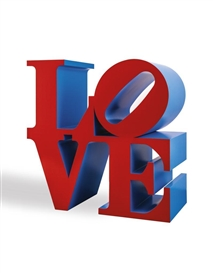 LOVE (RED/BLUE) by Robert Indiana