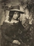Robert Adamson, David Octavius Hill, Girl in Straw Hat