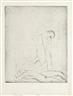 Wilhelm Lehmbruck, 2 Works: Liegender Mann, stehende Frau, Skizze & Zwei Verwundete II