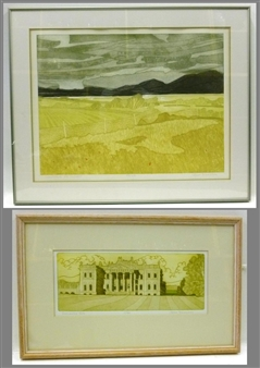 2 works; Cloudbreak Over Snowden; Duncombe Park By John Brunsdon