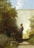 Carl Spitzweg, In the garden - the philosopher