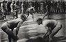 George Rodger, Wrestlers face each other before a match, Kordofan
