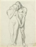 Lovis Corinth, Study of a couple standing (Adam and Eve?)