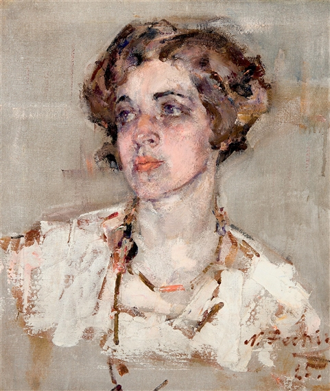 Fechin nicolai portrait of mrs dean cornwell 1925 for Nicolai fechin paintings for sale