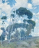 Guy Rose, Windswept Trees, Laguna