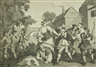 William Hogarth, 7 works; Frontispiece and its Explanation Plate; St. Hudibras his passing worth Plate; Hudibras vanquished by Trussa Plate; Hudibras in Tribulation Plate; Hudibras and the Lawyer Plate; The Committee Plate; Hudibras Triumphant Plate