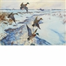 John Whorf, Ducks in Flight (Winter on the Marshes)