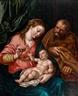 Hendrick Goltzius, Sainte Famille au Rideau Vert