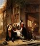 Philippe-Jacques van Bree, Schankstube mit gästen und junger kellnerin
