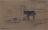 Max Liebermann, Donkey and batheing huts, Noordwijk beach