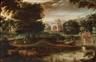 Lucas Gassel, Eine bewaldete Landschaft mit Pilgern