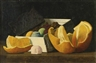 John Frederick Peto, Still Life with Oranges and a Box of Confections
