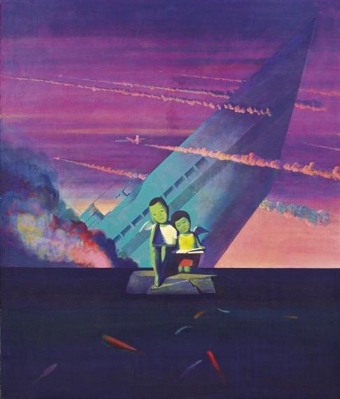 Liu Ye - SINKING SHIP, 1995, oil on canvas