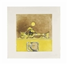 Graham Sutherland, Form in a desert - Brown and Yellow (Tassi 144)