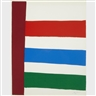 Jack Bush, 5 works; JACK BUSH; RED SASH-NEW YORK; RED STRIPES-NEW YORK; RED ORANGE GREEN; NICE PINK; STRIPES TO THE RIGHT