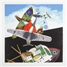 Malcolm Morley, 2 works; BATTLE OF BRITAIN; QUARTET