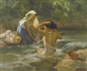 Fernando Amorsolo, BATHING BY THE STREAM